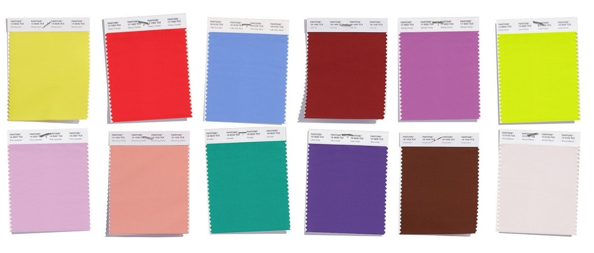 Pantone colours for Spring 2018