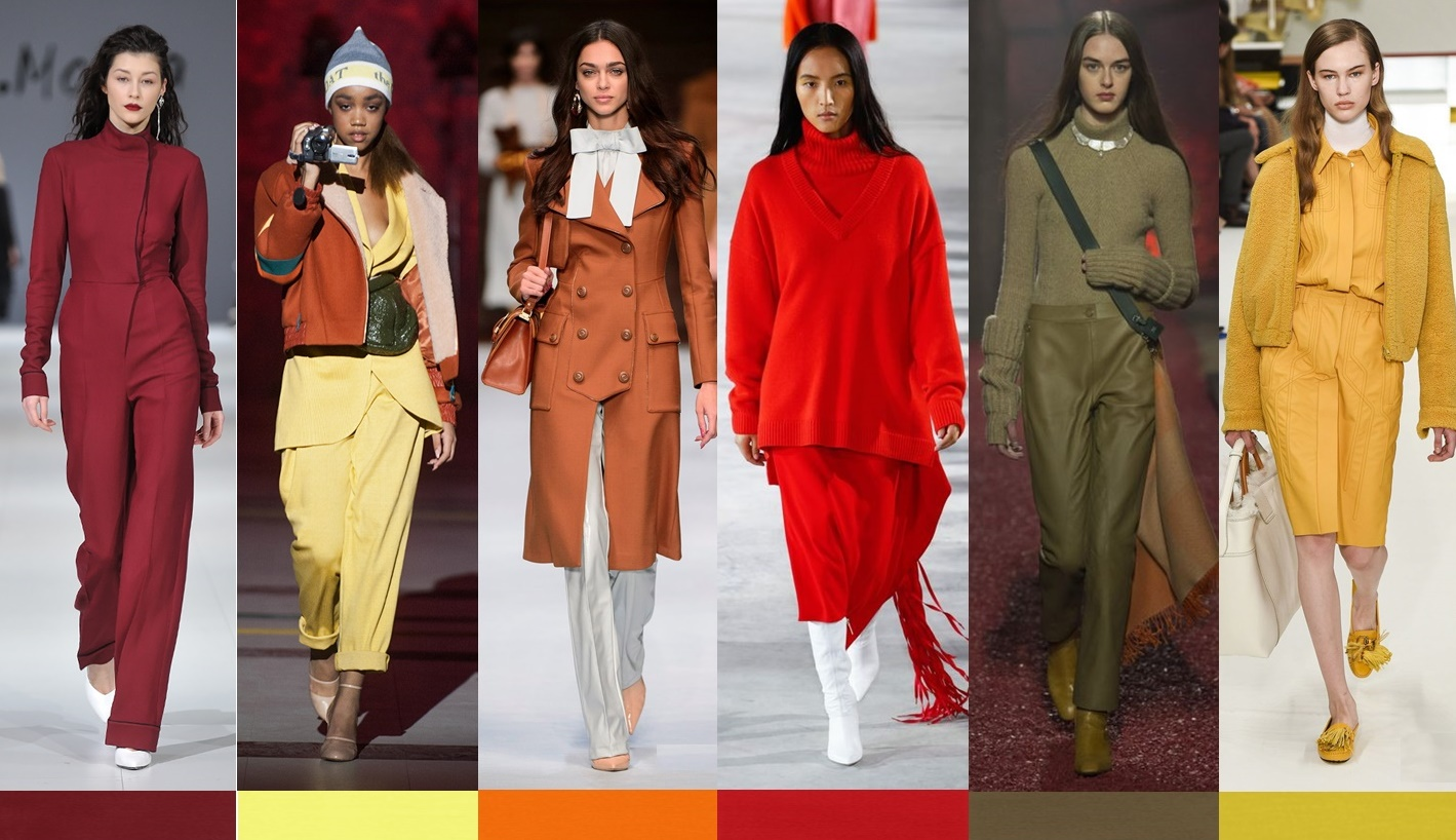Fall Winter 2018-2019 Color Trends. Цвета по версии Pantone осень-зима